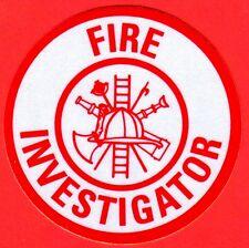 Firefighter Decal?Sticker Round (INVESTIGATOR)