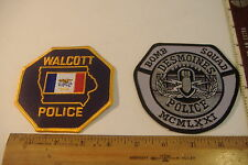 ~DES MOINES POLICE BOMB SQUAD & WALCOTT POLICE~IOWA PATCHES~