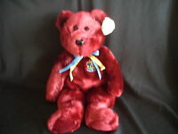 TY BEANIE BUDDY BEAR BUCKINGHAM - RETIRED WITH TAG - LOVELY CONDITION