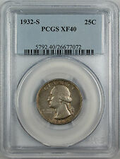 1932-S Silver Washington Quarter, PCGS XF-40, Better Coin, Semi-Key Date