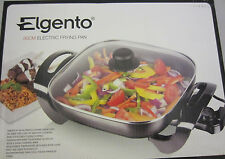 NEW Elgento E14024 Electric Frying Pan, Oil-Free for Low-Fat Cooking. Non-Stick