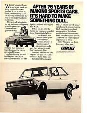 1977 FIAT - 124 SPIDER / 131 SEDAN  ~  NICE ORIGINAL PRINT AD