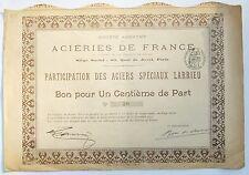 Paris XV ème 83 Quai de Javel - Rarissime (100 ex) Aciers Spéciaux LARRIEU 1901