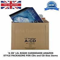 1 x A-CD LIL CD SIZE RIGID CARDBOARD AMAZON STYLE MAILERS ENVELOPES C0 JL0 ACD