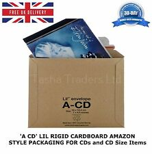 1000 x A-CD LIL CD SIZE RIGID CARDBOARD AMAZON STYLE MAILERS ENVELOPE C0 JL0 ACD