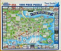 White Mountain Puzzles-1000 Pieces Jigsaw Puzzles-Newport-Rhode Island-#863S