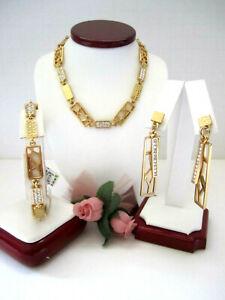"Brighton ""MERIDIAN ZENITH"" Gold Necklace-Earring-Bracelet Set (MR$174) NWT/Pouch"