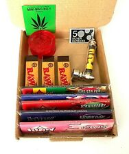 JUICY JAYS BOX KIT King Size Rolling Papers and RAW Filter Tip Roaches Shredder