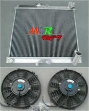 aluminum radiator & fans for Mazda RX 7 RX-7 FC3S FC-3S S4 1986 1987 1988 manual