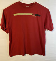 Vintage Adidas T-shirt; Mens XL; Spell Out; Original; Solid Red; 90s 80s