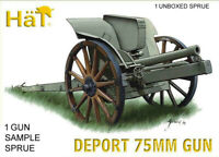 HaT 8242 Deport 75mm M1911 Italian WWI 1/72 Model Artillery Kit - 1 SPRUE 1 gun