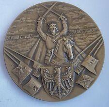 POLISH 1410 TANNENBERG GRUNWALD BATTLE MEDAL Teutonic ORDER bronze