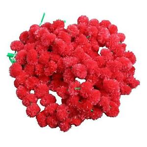 50 Pc All occasion Home Decorations 5 feet long Artificial Marigold Red Flower