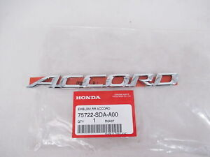 "Genuine OEM Honda 75722-SDA-A00 ""ACCORD"" Emblem Nameplate Rear 2003-2007 Accord"
