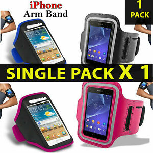 Quality Sports Armband Gym Running Workout Belt Strap Phone Case Cover✔Black