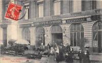 CPA 51 REIMS LE MARCHE AUX FLEURS PLACE ROYALE DEVANT LE GRAND CAFE DE LA DOUANE