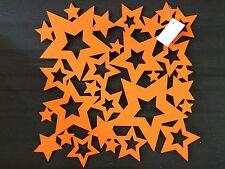 Filz Untersetzer Stern Orange 28 x 28 cm 6 Stück