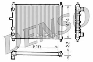 Denso Motor Kühler Für ein Fiat Bravo Fließheck 1.9 48KW
