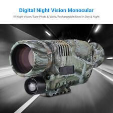 Night Vision Camera Goggles Monocular IR Surveillance Gen Hunting Scope Free 8GB