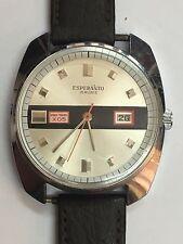 Vintage montre watche  Esperanto 1969 modèle space travel X05  fonctionne