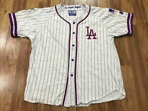 MENS LARGE - Vtg 90s Los Angeles Dodgers Starter Embroidered Jersey