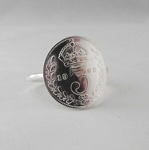 Lovely Celeb Handmade Hammer Finish Antique Coin Sterling Silver Stacking Ring