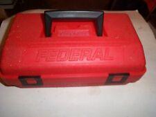 Vintage Federal ammunition case shotshell carrier ammo box rainproof plastic