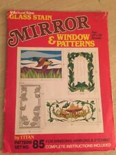 Vintage Stained Glass Mirror And Window Patterns Full-Size Set Of 9 Craft Quilts