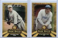 2015 Topps The Babe Ruth Story #BR10 & #BR4 - 2 CARD LOT