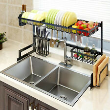 Stainless Steel Kitchen Sink Drain Rack Shelf Sishes Cutlery Organizer Storage