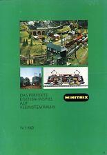 Minitrix Spur N Prospekt 70er/80er J. Modellbahnprospekt brochure model railway