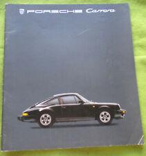 PORSCHE CARRERA DEALERS BROCHURE 1984 + 1985 PRICE LIST