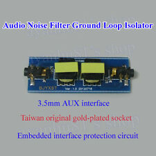 3.5mm AUX Car Amplifier Audio Noise Filter Ground Loop Isolator Noise Suppressor