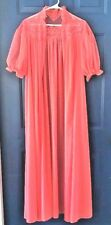 1958 Vanity Fair CORAL Peignoir Nylon Robe Sheer LACE Size 32 Long SEXY