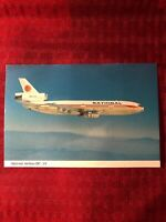NATIONAL AIRLINES DC-10 249 passengers Airline Airplane Postcard