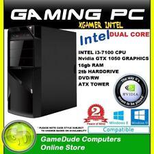 INTEL DUAL CORE 3.9Ghz GAMING PC 16GB ram 2tb HDD GTX-1050 Graphics DVD/RW   FF