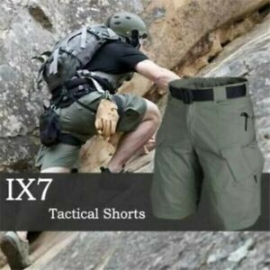 Big Size Upgraded Tactical Waterproof Tactical Shorts Khaki Pants Hiking Men
