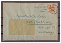 Alliierte Besetzung MiNr. 951 EF Bonn nach Mühlacker, Württ. 27.09.1949 WSt