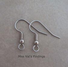1000 surgical steel fishook hook ear wires earrings 20mm 21 gauge ball coil