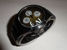 Vestal Madera All Black Stainless Steel Chronograph Womens Watch MDA004