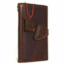 Genuine Natural leather Case fit Samsung Galaxy Note Edge book wallet Hard cover
