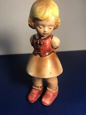 Vintage ~Rare~ Inarco E-1681 School Girl Figurine With Apple Behind Her Back