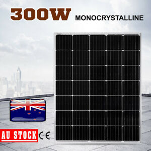 12V 300W Solar Panel Mono Cells Generator Caravan 300 watt With Regulator AU NEW