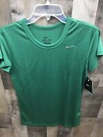 Womens Nike Performance Short Sleeve Green Shirt Size Medium New With Tags
