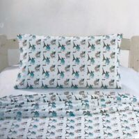Minnie & Maddox Boston Terrier Dogs Eiffel Tower Twin 3 Piece Bedding Sheet Set