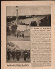 WWI Foire Bordeaux Place des Quinconces/Bulgaria Ljubic Bosnia 1916 ILLUSTRATION