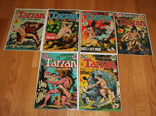 Tarzan of the Apes 1st DC Comics Issue #207-212 Full Run. Averaged VF 8.0