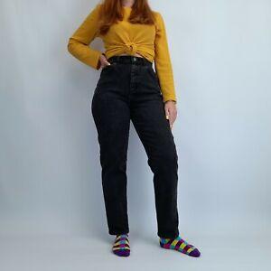 Vintage High Waisted Mom Jeans 27W 29L Black