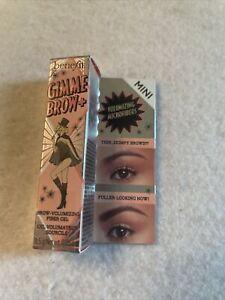 Benefit Gimme Brow+Volumizing Eyebrow Gel Shade #5 Mini - 0.05 oz / 13g NIB