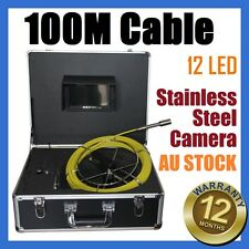 100M Snake Cable Under Water Sewer Drain Pipe Wall Inspection Endoscope Camera